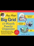 2022 Amy Knapp's Big Grid Family Organizer Wall Calendar: August 2021-December 2022