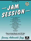 Jamey Aebersold Jazz -- Jam Session, Vol 34: Book & 2 CDs