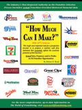 How Much Can I Make? 2006: Actual Sales, Expenses, And/Or Profits on 112 Franchise Opportunities