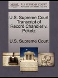 U.S. Supreme Court Transcript of Record Chandler V. Peketz
