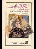 Invitacion a Gabriela Mistral (1889-1989)