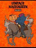 Vintage Halloween Malbuch