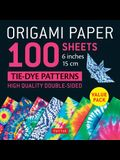 Origami Paper 100 Sheets Tie-Dye Patterns 6 (15 CM): Tuttle Origami Paper: High-Quality Double-Sided Origami Sheets Printed with 8 Different Designs (