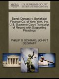 Bond (Dorcas) V. Beneficial Finance Co. of New York, Inc. U.S. Supreme Court Transcript of Record with Supporting Pleadings