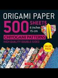 Origami Paper 500 Sheets Chiyogami Patterns 6 15cm: Tuttle Origami Paper: High-Quality Double-Sided Origami Sheets Printed with 12 Different Designs (