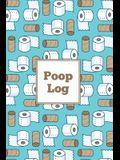 Poop Log: Bowel Movement Health Tracker, Daily Record & Track, Journal, Food Intake Diary Notebook, Poo Logbook, Bristol Stool C