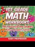 1st Grade Math Practice Book: Recognizing Plane Shapes - Math Worksheets Edition