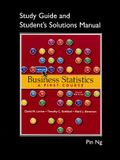 Student Solutions Manual for Business Statistics: A First Course