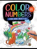 Color by Numbers: For Kids Ages 4-8: Dinosaur, Sea Life, Animals, Butterfly, and Much More!