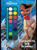 Disney Moana Discoveries and Dreams (Paint Palette Book) (Deluxe Paint Palette)