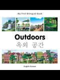 My First Bilingual Book-Outdoors (English-Korean)