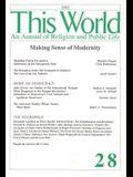 Making Sense of Modernity: Religion and Public Life