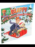 Blippi: It's Christmastime! [With Stickers]