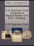 U.S. Supreme Court Transcript of Record Boston & M R R V. Armburg