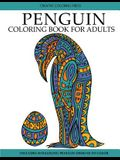 Penguin Coloring Book: Adult Coloring Book with Beautiful Penguin Designs