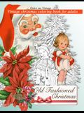 Retro Old Fashioned Christmas Vintage Coloring Book For Adults