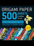 Origami Paper 500 Sheets Nature Photo Patterns 6 (15 CM): Tuttle Origami Paper: High-Quality Double-Sided Origami Sheets Printed with 12 Different De