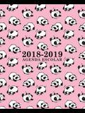 Agenda escolar 2018-2019: 190 x 235 mm: Agenda 2018-2019 semana vista español: 160 g/m² Agenda semanal 12 meses: Panda osos en rosa