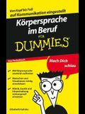 K?rpersprache Im Beruf F?r Dummies Das Pocketbuch