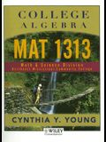 College Algebra: Mat 1313