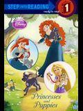 Princesses And Puppies (Turtleback School & Library Binding Edition) (Disney Princess (Random House Library))