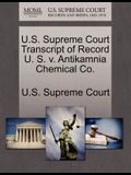 U.S. Supreme Court Transcript of Record U. S. V. Antikamnia Chemical Co.