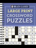 Brain Games - Large Print Crossword Puzzles (Purple)