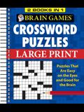 Brain Games - 2 Books in 1 - Crossword Puzzles