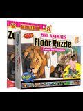 Zoo Animals Floor Puzzle [With Activity Book]