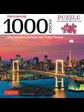 Tokyo Skyline Jigsaw Puzzle - 1,000 Pieces: The Rainbow Bridge and Tokyo Tower (Finished Size 24 in X 18 In)