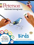 Peterson Field Guide Coloring Books: Birds [With Sticker(s)]