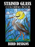 Stained Glass Coloring Book: Bird Designs
