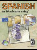Spanish in 10 Minutes a Daya [With CDROM]
