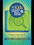 KJV Kids Study Bible Flex Green Blue