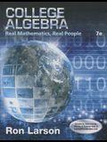 College Algebra: Real Mathematics, Real People