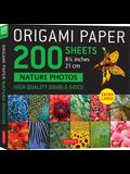 Origami Paper 200 Sheets Nature Photos 8 1/4 (21 CM): Extra Large Tuttle Origami Paper: High-Quality Double Sided Origami Sheets Printed with 12 Diff