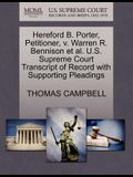 Hereford B. Porter, Petitioner, V. Warren R. Bennison et al. U.S. Supreme Court Transcript of Record with Supporting Pleadings