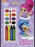 Better Together! (Shimmer and Shine) [With Four Chunky Crayons]