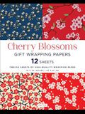 Cherry Blossoms Gift Wrapping Papers: 12 Sheets of High-Quality 18 X 24 Inch Wrapping Paper