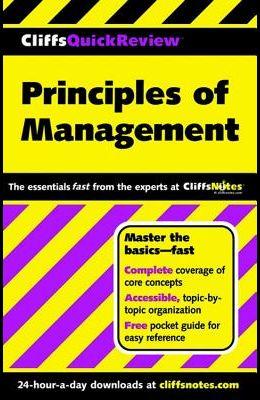 Cliffsquickreview Principles of Management