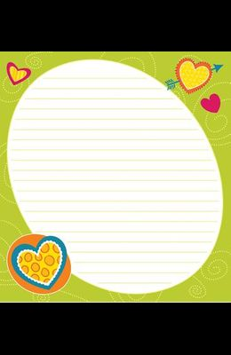 Bright Hearts Notepad