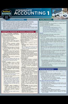 Intermediate Accounting 1: A Quickstudy Laminated Reference Guide