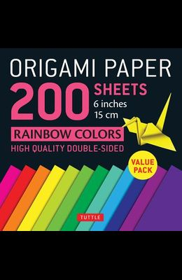 Origami Paper 200 Sheets Rainbow Colors 6 (15 CM): Tuttle Origami Paper: High-Quality Double Sided Origami Sheets Printed with 12 Different Designs (