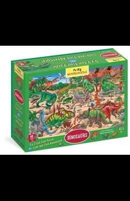 My Big Wimmelpuzzle Dinosaurs Floor Puzzle, 48-Piece