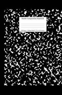 Marble Composition Notebook College Ruled: Black Marble Notebooks, School Supplies, Notebooks for School