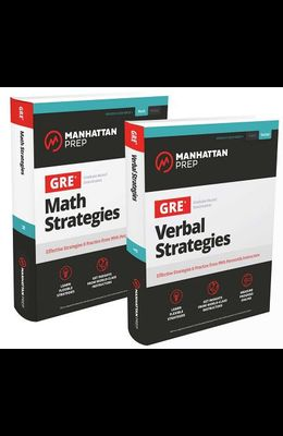 GRE Math & Verbal Strategies Set: Comprehensive Content Review & 6 Online Practice Tests from 99th Percentile Instructors