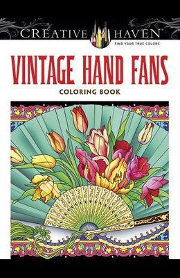 Creative Haven Vintage Hand Fans Coloring Book