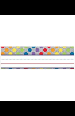 Sparkle and Shine Rainbow Dots on Glitter Nameplates