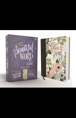 Niv, Beautiful Word Bible, Updated Edition, Peel/Stick Bible Tabs, Cloth Over Board, Multi-Color Floral, Red Letter, Comfort Print: 600+ Full-Color Il