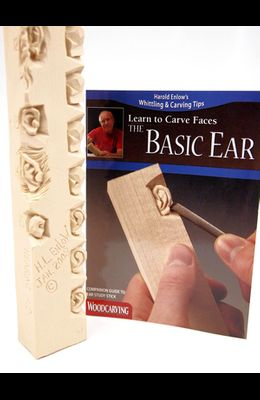 Basic Ear Study Stick Kit (Learn to Carve Faces with Harold Enlow): Learn to Carve the Basic Ear Booklet & Ear Study Stick